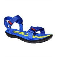 Guardian Blue Textile Velcro Floater Sandals