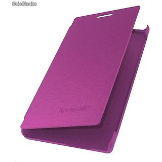 New Flip Cover For Xperia M2  - Purple.