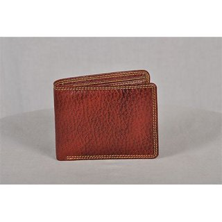 Mens Stylish Leather wallet In Brown color