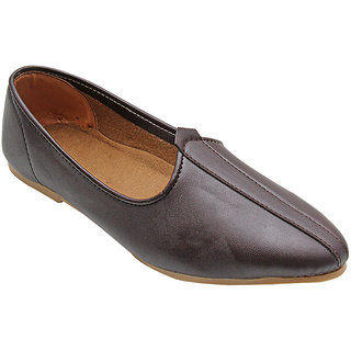 DARK BROWN GENUINE LEATHER JALSA SLIP-ON WITH BROWN SOLE BY PORT