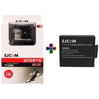 Sjcam Sj4000 Wifi 1080P 12Mp Digital Sports Waterproof Helmet+ Monopod + Battery