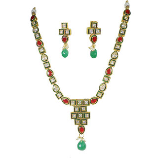 Rejewel Uncut AD Necklace Set