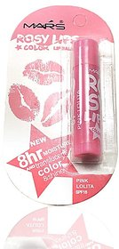 Mars Roosy Lip Color Lip Balm Pink Lolita Free Liner  Rubber Band