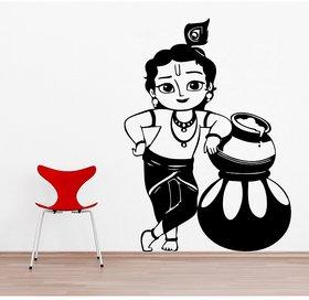 Asmi Collections PVC Wall Stickers Beautiful Baal Krishna As004