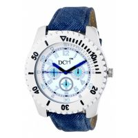 DCH WT 1238 Blue N White Mist Collection Analog Watch For Men With 12 Months War