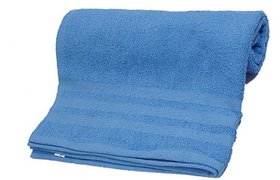 Ambika Love Touch Cotton Bath Towel - Blue