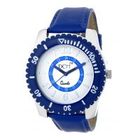 DCH WT 1240 Blue N White Mist Collection Analog Watch For Men With 12 Months War