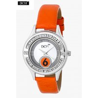 DCH WT 1246 Orange Analog Watch For Girls With 12 Months Warranty