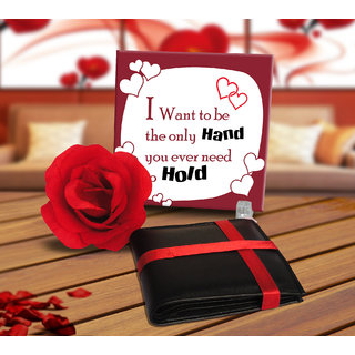 TIED RIBBONS Valentine Day Gift For Boy Friend Husband Fiance Message Tile Wallet Birthday Anniversary Love Forever Promise Propose Hug