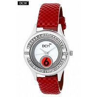 DCH WT 1246 Red Analog Watch For Girls With 12 Months Warranty