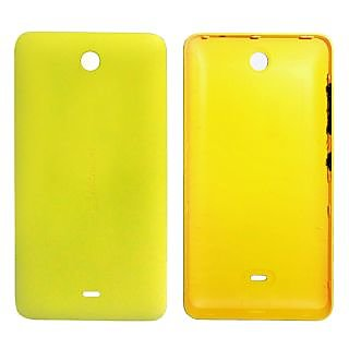 Quality Back Replacement Cover For Microsoft Lumia 430-YELLOW