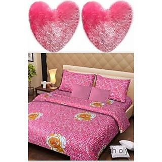 Ech oly combo of Double Bedsheet and heart pillow