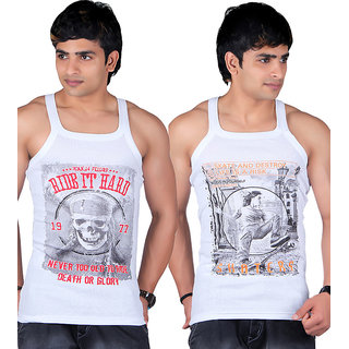 White Moon Sports Gym Vest 555 - Pack of 2 (Skater-Ride)