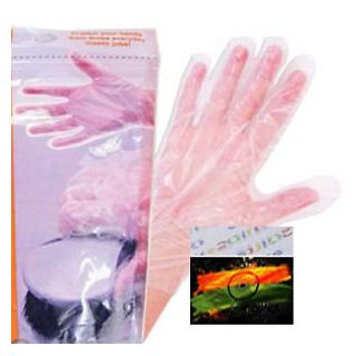 150 Clear Disposable Plastic Gloves PE Cleaning Gardening Garden DIY Crafts