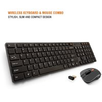 Amkette Optimus Wireless Keyboard and Mouse Combo with Optical Sensor