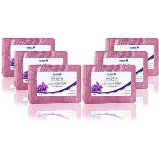 Healthvit Bath  Body Lavender Soap 75g - Pack of  6