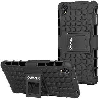 7722e56525f Buy Amzer Back Cover for OnePlus X - Black (Hybrid Warrior Case ...