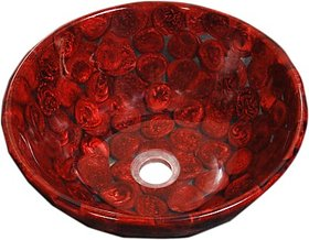 Lucky Red Crossandra DZS15 Table Top Basin best suit for modern homes