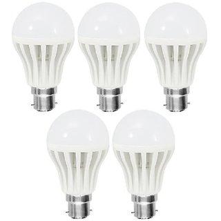 5 pcs LED Bulb 2pcs 9W, 2pcs 7W, 1 pcs 5W (Crest)  warranty/super quality