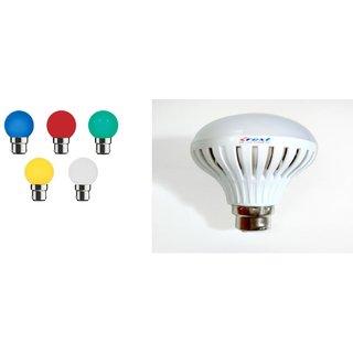 3 pcs LED bulb 9W (2 pcs Night bulb free) crest , no compromise with quality