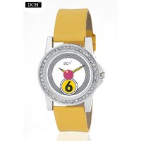 DCH WT 1229 Yellow Analog Watch For Girls With 12 Months Warranty(WT 1229)