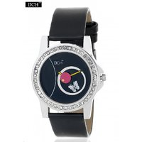 DCH WT 1230 Black Analog Watch For Girls With 12 Months Warranty(WT 1230)