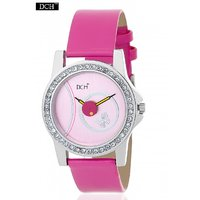 DCH WT 1231 Pink Analog Watch For Girls With 12 Months Warranty