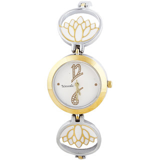 Telesonic Analog Watch For Ladies-LCT07-WT