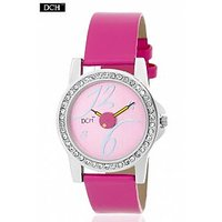 DCH WT 1232 Pink Analog Watch For Girls With 12 Months Warranty
