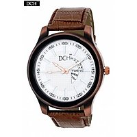 DCH WT 1247 Brown Anaog Watch For Men With 12 Month Warranty