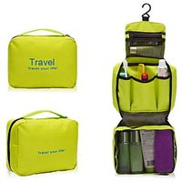 Ladies Mens  Zipper Bag Travel Bag Toiletries Makeup Organizer Bag Hanging-GREEN
