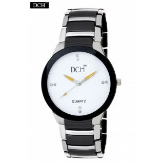 DCH WHite N Silver Analog Watch For Men With 12 Onths Warranty