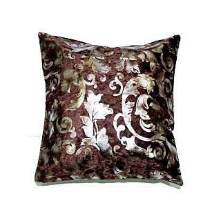 Koncepts Silver Flower Design Cushion Cover (40X40Cms)40D