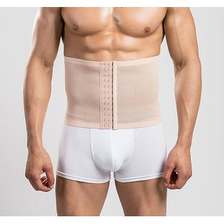 Mens 3 hooks instant tummy tuck slim waist belt shaper cincher trimmer bodyshape