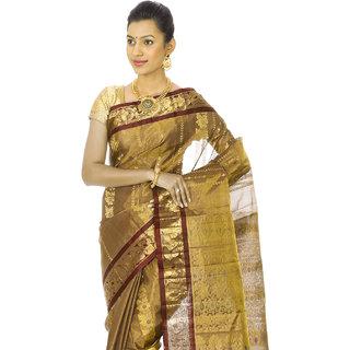 2c4967e1fcbb6 Buy Vedhakamal Silks Multicolor Tissue Self Design Saree With Blouse ...