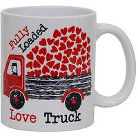 Valentine Gift with Fully Loaded Love Truck Printed Ceramic Mug GIFTS110161