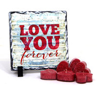 Valentine Gift with Love You! Table Top with Red Heart Candles GIFTS110231