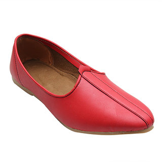 RED LEATHER JALSA SLIP-ON WITH WHITE SOLE BY PORT