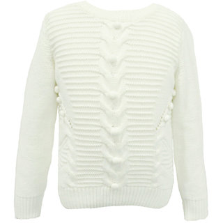 Joy n Fun white Knitted Sweater