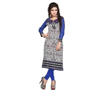 Womens Cotton Self Print Unstitched Kurti.
