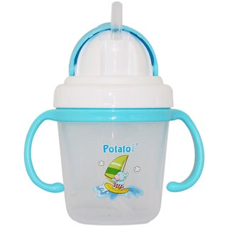 Potato Straw Cup Blue 150ml