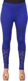 Ayesha Creations Blue Womens Leggings-ACLGLONGLACE