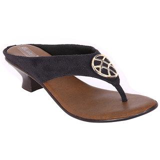 Glameous Women's Black & Brown Heels