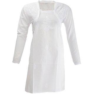 Womens Cotton Pure White Kurti