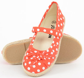 Joy n Fun Orange Polka dots bellies for Girl
