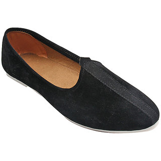 BLACK SUEDE LEATHER JALSA SLIP-ON WITH WHITE SOLE BY PORT