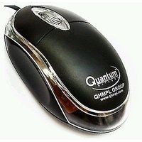 Quantum QHM222 USB Mouse (BLACK) WIRED FOR LAPTOPS AND