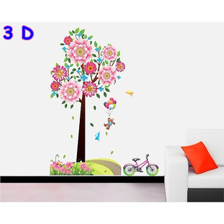 3D wall stickers flower tree