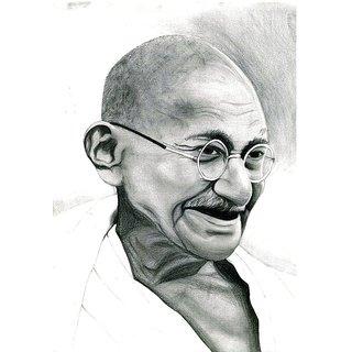 Mahatma Gandhi Pencil Sketch