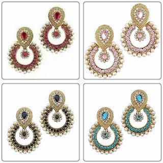 Combo Offer of pearl polki earrings